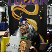 London, England, UK. 27th October 2017. Mister Lucian is an illustrated SALOME stall at the MCM London Comic Con, which took place at the Excel Centre and hundreds of stall exhibition.