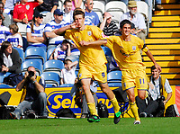 Photo: Leigh Quinnell.<br /> Queens Park Rangers v Southampton. Coca Cola Championship. 01/09/2007. Southamptons Andrew Surman(R) helps Grzegorz Rasiak celebrate his second goal.