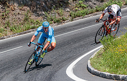07.07.2017, St. Johann Alpendorf, AUT, Ö-Tour, Österreich Radrundfahrt 2017, 5. Kitzbühel - St. Johann/Alpendorf (212,5 km), im Bild Gatis Smukulis (LAT, Delko Marseille Provence KTM), Matthias Krizek (AUT, Tirol Cycling Team) // Gatis Smukulis (LAT, Delko Marseille Provence KTM), Matthias Krizek (AUT, Tirol Cycling Team) during the 5th stage from Kitzbuehel - St. Johann/Alpendorf (212,5 km) of 2017 Tour of Austria. St. Johann Alpendorf, Austria on 2017/07/07. EXPA Pictures © 2017, PhotoCredit: EXPA/ JFK