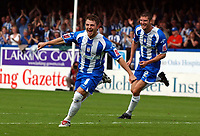 Photo: Olly Greenwood.<br />Colchester United v Derby County. Coca Cola Championship. 26/08/2006. Colchester Uniteds Jamie Cureton celebrates his second goal