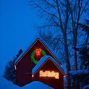 2011 sun valley calendar, december, old sun valley milk barn