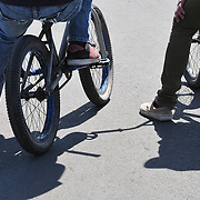 BMX Riders and Shadows - Spring 2012 Bicycle Swap Meet - Tucson, Arizona. Bike-tography by Martha Retallick