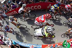 21.05.2011, Hauptplatz Lienz, AUT, Giro d´ Italia 2011, 14. Etappe, Lienz - Monte Zoncolan, im Bild der Giro Tross beim verlassen der Dolomitenstadt Lienz // during the Giro d´ Italia 2011, Stage 14, Lienz - Monte Zoncolan,Austria, 2011-05-21, EXPA Pictures © 2011, PhotoCredit: EXPA/ J. Feichter