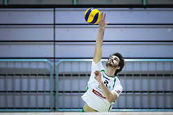 Marovt Maj of Panvita Pomgrad on serve during volleyball match between Panvita Pomgrad and Šoštanj Topolšica of 1. DOL Slovenian National Championship 2019/20, on December 14, 2019 in Osnovna šola I, Murska Sobota, Slovenia. Photo by Blaž Weindorfer / Sportida