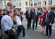 Brussels, 20-07-2015<br /> <br /> King Phillipe and Queen Mathilde, Princess Astrid and Prince Lorenz attend a concert at before The National Day of Belgium<br /> <br /> Royalportraits Europe/Bernard Ruebsamen