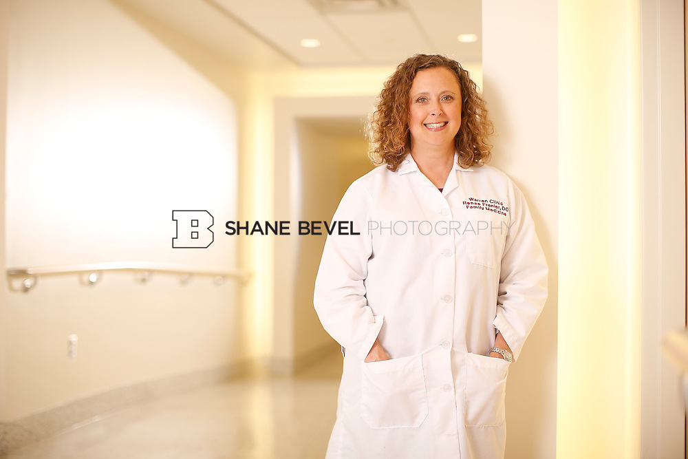 5/28/15 4:18:52 PM -- Dr. Renee Frenier of Saint Francis Health System poses for a portrait for the 2015 Advertising Campaign. <br /> <br /> Photo by Shane Bevel