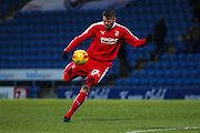Swindon Town midfielder Ben Gladwin strikes the ball during the Sky Bet League 1 match between Chesterfield and Swindon Town at the Proact stadium, Chesterfield, England on 28 November 2015. Photo by Aaron Lupton.