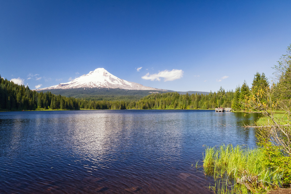 USA, Oregon, Hood River County. Mt. Hood reflected in Trillium Lake in the Mt. Hood National Forest.