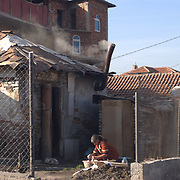 Daily life in the Fakulteta roma ghetto in Sofia, Bulgaria.
