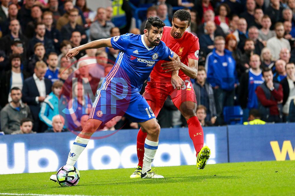 Diego Costa of Chelsea under pressure from Joel Matip of Liverpool - Mandatory by-line: Jason Brown/JMP - 16/09/2016 - FOOTBALL - Stamford Bridge - London, England - Chelsea v Liverpool - Premier League