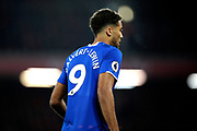 Everton forward Dominic Calvert-Lewin (9) during the Premier League match between Liverpool and Everton at Anfield, Liverpool, England on 4 December 2019.