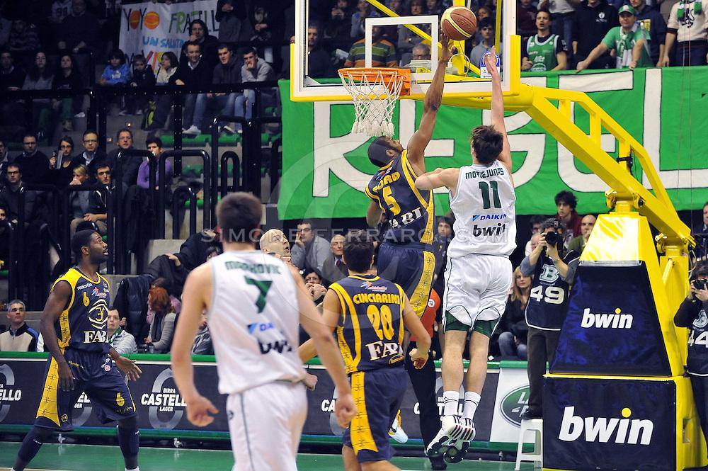 Treviso, 06/02/2011..PalaVerde. Campionato di Basket  2010/11. .3^ giornata ritorno. Regular Season. .Benetton Treviso vs Fabi Shoes Montegranaro..Nella foto: Donatas Motiejunas..Foto di Simone Ferraro