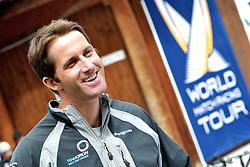 Ben Ainslie, TEAMORIGIN. St Moritz Match Race 2010. World Match Racing Tour. St Moritz, Switzerland. 3rd September 2010. Photo: Ian Roman/WMRT.