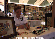 Kutztown PA Dutch Festival, Berks Co PA, Crafts Artist Art Work Demonstration