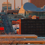 Looking north up Broadway taken from Penn Valley Park, Kansas City MIssouri.