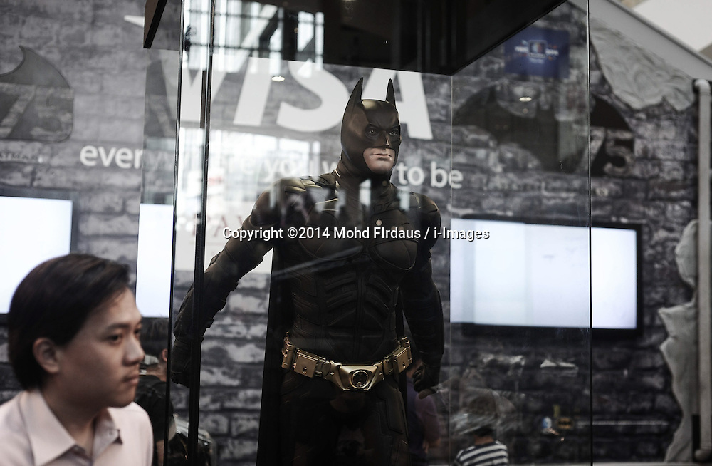 Batman figure on displayed during the exhibition in conjunction with Batman's 75th anniversary in a shopping mall in Kuala Lumpur on Jun 02, 2014. The Batman 75th Anniversary celebration Malaysia is from 28 May 2014 & will run till 15 June 2014, Monday, 2nd June 2014. Picture by Mohd FIrdaus / i-Images