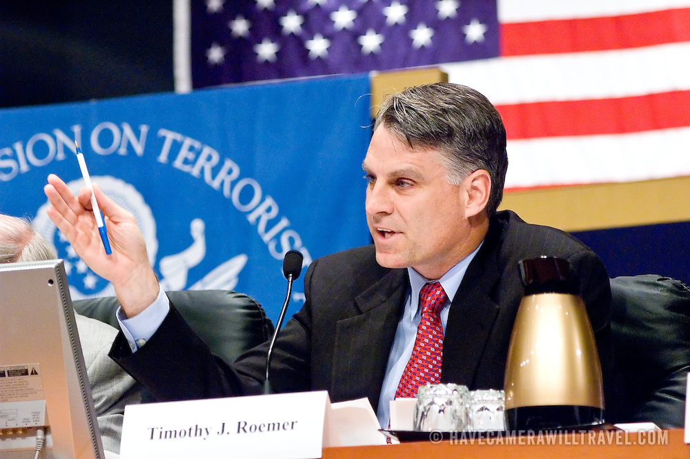 """Timothy Roemer. Panel: """"Outline of the 9/11 Plot."""" The 9/11 Commission's 12th public hearing on """"The 9/11 Plot"""" and """"National Crisis Management"""" was held June 16-17, 2004, in Washington, DC."""