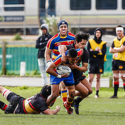 Action during the rugby union game played between Tawa v Paremata-Plimmerton (U21), on 16 June 2018, at Ngatitoa Domain, Mana, Wellington, New  Zealand.    Tawa won 16-13.