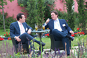 CHARLES FINDLATER; BEN OSBOURNE, Archant Summer party. Kensington Roof Gardens. London. 7 July 2010. -DO NOT ARCHIVE-© Copyright Photograph by Dafydd Jones. 248 Clapham Rd. London SW9 0PZ. Tel 0207 820 0771. www.dafjones.com.