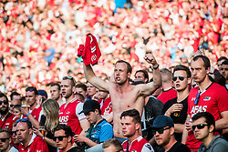 fan, fans, supporter, supporters during the Dutch Toto KNVB Cup Final match between AZ Alkmaar and Feyenoord on April 22, 2018 at the Kuip stadium in Rotterdam, The Netherlands.