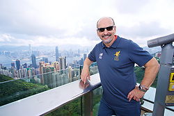 HONG KONG, CHINA - Friday, July 21, 2017: Liverpool's Chief Executive Peter Moore visits Victoria Peak to see the views of Hong Kong harbour during day five of the Premier League Asia Trophy 2017. (Pic by David Rawcliffe/Propaganda)