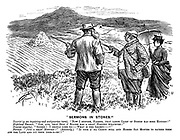 """""""Sermons in Stones."""" Tourist (of an inquiring and antiquarian turn). """"Now I suppose, farmer, that large cairn of stones has some history?"""" Highland farmer. """"Ooh, aye, that buig o' stanes has a gran' history whatever!"""" Tourist (eagerly). """"Indeed! I should like to- What is the legend- ?"""" Farmer. """"Just a gran' history!"""" (Solemnly.) """"It took a' ma cairts full and horses sax months to gather them aff the land and pit them ther-r-re!!"""""""