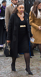 Zenani daughter of Nelson Mandela arrives at a National Service of Thanksgiving to celebrate the life of Nelson Mandela, at Westminster Abbey in London, Monday, 3rd March 2014. Picture by i-Images