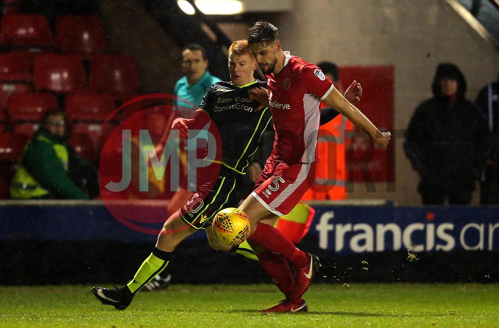 Rory Gaffney of Bristol Rovers takes on Jon Guthrie of Walsall - Mandatory by-line: Robbie Stephenson/JMP - 26/12/2017 - FOOTBALL - Banks's Stadium - Walsall, England - Walsall v Bristol Rovers - Sky Bet League One