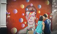 David Bowie shrine memorial in Brixton London England UK