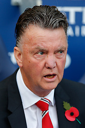 Manchester United Manager Louis van Gaal looks on - Photo mandatory by-line: Rogan Thomson/JMP - 07966 386802 - 02/11/2014 - SPORT - FOOTBALL - Manchester, England - Etihad Stadium - Manchester City v Manchester United - Barclays Premier League.