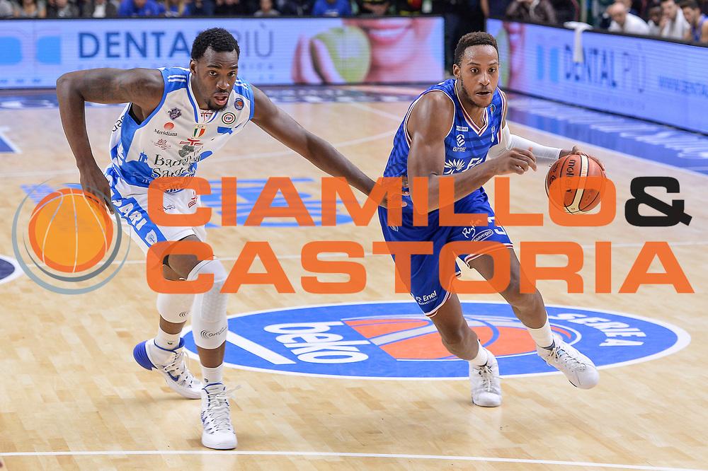 DESCRIZIONE : Beko Legabasket Serie A 2015- 2016 Dinamo Banco di Sardegna Sassari - Enel Brindisi<br /> GIOCATORE : Kenneth Kadji<br /> CATEGORIA : Palleggio Penetrazione<br /> SQUADRA : Enel Brindisi<br /> EVENTO : Beko Legabasket Serie A 2015-2016<br /> GARA : Dinamo Banco di Sardegna Sassari - Enel Brindisi<br /> DATA : 18/10/2015<br /> SPORT : Pallacanestro <br /> AUTORE : Agenzia Ciamillo-Castoria/L.Canu