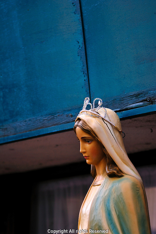 Blue Statue of the Virgin altar on Corpus Christi 2009