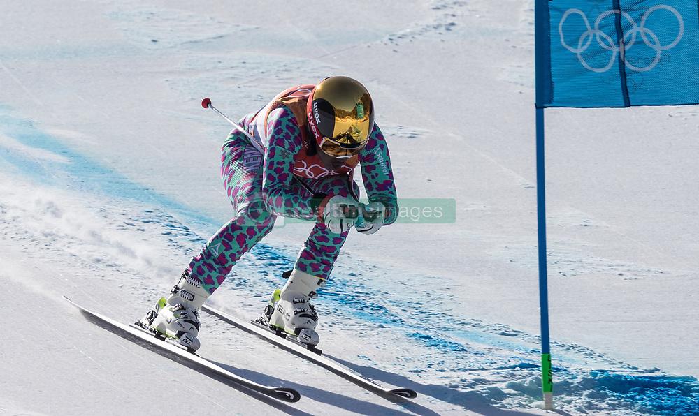 February 17, 2018 - PyeongChang, South Korea - SABRINA SIMADER of Kenya during Alpine Skiing: Ladies Super-G at Jeongseon Alpine Centre at the 2018 Pyeongchang Winter Olympic Games. (Credit Image: © Patrice Lapointe via ZUMA Wire)