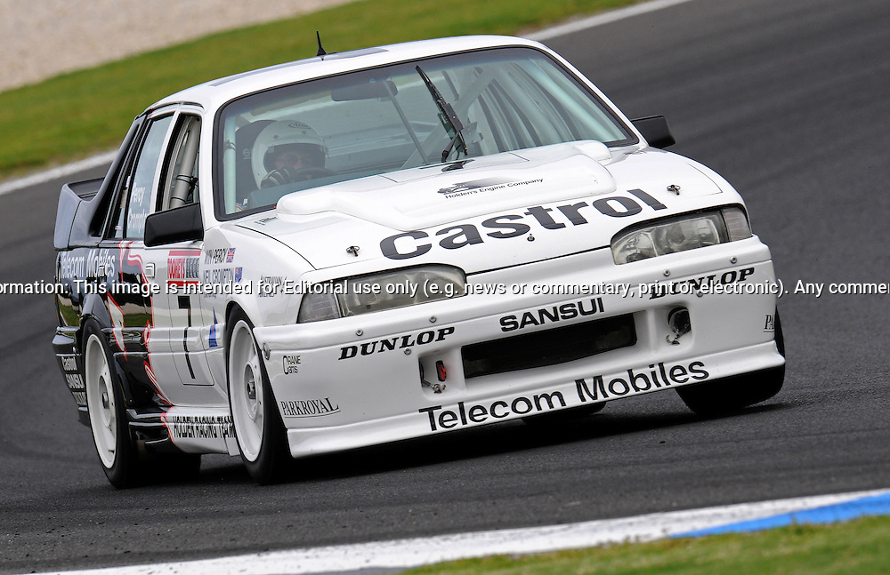 Norman Mogg - Holden VL Walkinshaw Commodore - Group C.Historic Motorsport Racing - Phillip Island Classic.18th March 2011.Phillip Island Racetrack, Phillip Island, Victoria.(C) Joel Strickland Photographics.Use information: This image is intended for Editorial use only (e.g. news or commentary, print or electronic). Any commercial or promotional use requires additional clearance.