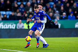 Jamie Vardy of Leicester City takes on Sean Morrison of Cardiff City - Mandatory by-line: Robbie Stephenson/JMP - 29/12/2018 - FOOTBALL - King Power Stadium - Leicester, England - Leicester City v Cardiff City - Premier League