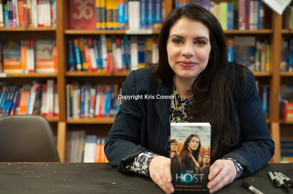 "Writer Stephenie Meyer attends a booking signing for their upcoming movie ""The Host"" at Politics and Pros Bookstore in Washington DC on February 21, 2013. Photo by Kris Connor/Allied-THA"