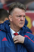 Manchester United's Manager Louis van Gaal during the Barclays Premier League match between Sunderland and Manchester United at the Stadium Of Light, Sunderland, England on 13 February 2016. Photo by George Ledger.