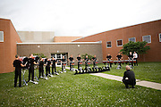 The Oregon Marching Band competes in Oregon, Wisconsin on June 29, 2008.