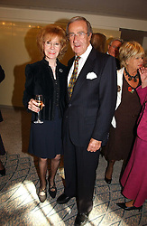 SHAW TAYLOR and his wife SHIRLEY at the Lady Taverners Tribute lunch in honour of Ronnie Corbett held at The Dorchester Hotel, Park Lane, London on 3rd November 2006.<br /><br />NON EXCLUSIVE - WORLD RIGHTS