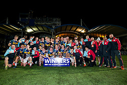 Harlequins U18 celebrate victory in the competition - Rogan Thomson/JMP - 16/02/2017 - RUGBY UNION - Sixways Stadium - Worcester, England - Wasps U18 v Exeter Chiefs U18 - Premiership Rugby Under 18 Academy Finals Day 3rd Place Play-Off.