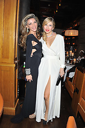 Left to right, LISA TCHENGUIZ and JULIA GONCHARUK at a dinner hosted by de Grisogono at 17 Berkeley Street, London on 12th November 2012.
