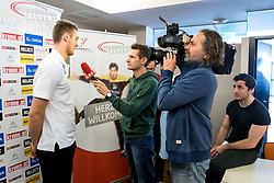 15.01.2018, Hotel Molindrio, Porec, CRO, EHF EM, Herren, Pressekonferenz Österreich, Gruppe B, im Bild Nikola Bilyk (AUT) bei einem interview // during an Austrian Press Conference during the EHF men's Handball European Championship at the Hotel Molindrio in Porec, Croatia on 2018/01/15. EXPA Pictures © 2018, PhotoCredit: EXPA/ Sebastian Pucher