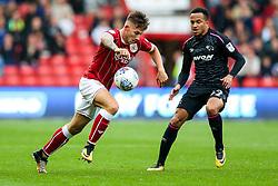 Josh Brownhill of Bristol City is challenged by Marcus Olsson of Derby County - Rogan/JMP - 16/09/2017 - Ashton Gate Stadium - Bristol, England - Bristol City v Derby County - Sky Bet Championship.