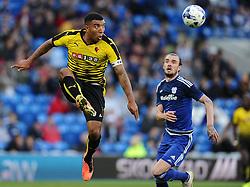 Troy Deeney of Watford  - Mandatory by-line: Joe Meredith/JMP - 07966386802 - 28/07/2015 - SPORT - FOOTBALL - Cardiff,Wales - Cardiff City Stadium - Cardiff City v Watford - Pre-Season Friendly