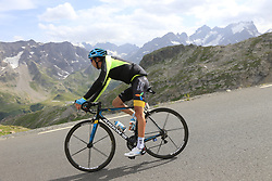 Bakhtiyar Kozhatayev (KAZ) Astana descends the Col du Galibier during Stage 4 of the 104th edition of the Tour de France 2017, running 183km from La Mure to Serre Chevalier, France. 19th July 2017.<br /> Picture: Eoin Clarke | Cyclefile<br /> <br /> All photos usage must carry mandatory copyright credit (&copy; Cyclefile | Eoin Clarke)