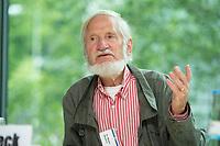 """26 JUN 2012, BERLIN/GERMANY:<br /> Dr. Rupert Neudeck, Vorsitzender Gruenhelme e.V., """"Demokratie, Rechtsstaatlichkeit und Freiheit weltweit sichern"""", Poltiktag fuer Studierende im Vorfeld des Tages der Konrad-Adenauer-Stiftung, KAS 2012, Akademie der Konrad-Adenauer-Stiftung<br /> IMAGE: 20120626-01-078<br /> KEYWORDS: Grünhelme"""