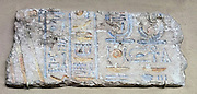 Relief fragment with palace storerooms at El Amarna. New Kingdom, Amarna Period 18th Dynasty, reign  of Akhenaten ca. 1353–1336 B.C.
