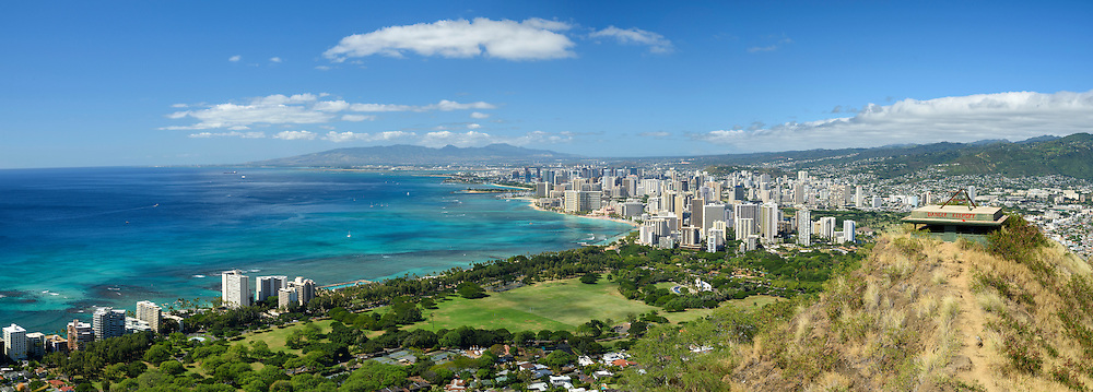 USA, Hawaii, Oahu, Honolulu,Diamond head state Monument