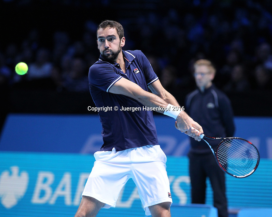 MARIN CILIC (CRO), ATP World Tour Finals, O2 Arena, London, England.<br /> <br /> Tennis - ATP World Tour Finals 2016 - ATP -  O2 Arena - London -  - Great Britain  - 18 November 2016. <br /> &copy; Juergen Hasenkopf/Grieves