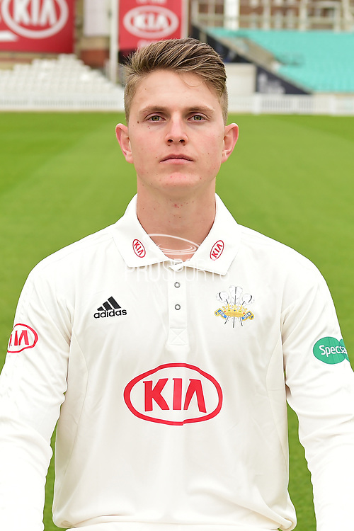 Conor McKerr portrait during the Surrey CCC Photocall 2017 at the Oval, London, United Kingdom on 4 April 2017. Photo by Jon Bromley.